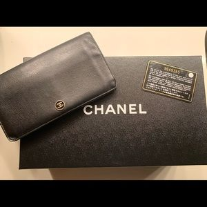 Chanel coco button long wallet & WOC